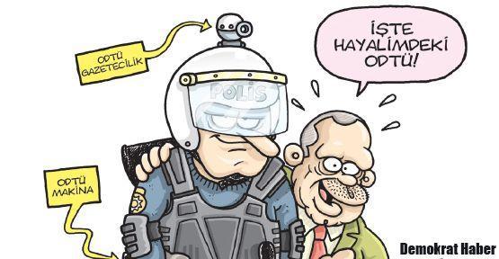 Gırgır Erdoğan'ın hayalindeki ODTÜ'yü de çizdi!