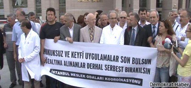 Gözaltılar Çağlayan'da protesto edildi