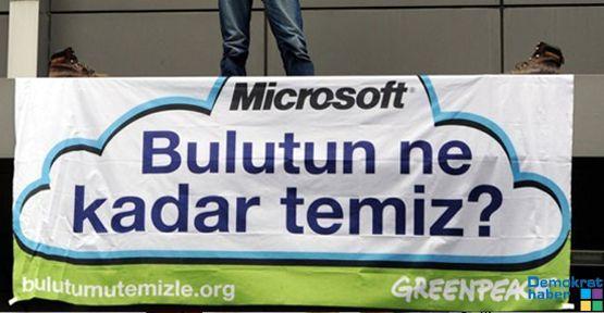 Greenpeace Microsoft'a çıktı