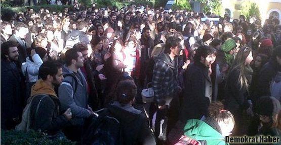 GSÜ'deki rektör protestosunda öğrencinin kolu kırıldı