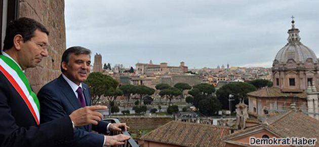 Gül: Roma'da ne bir AVM ne bir gökdelen var!
