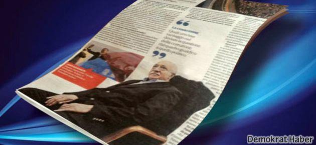 Gülen'le röportaj yaptı eşi Sabah'tan atıldı