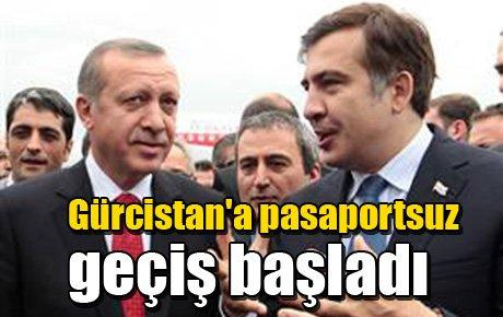 Gürcistan'la pasaportsuz geçiş başladı