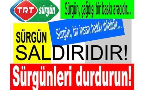 Haber-Sen'den TRT önünde eylem