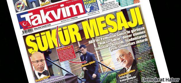 Hakan Şükür'den Takvim'e: Bulvar gazetesi