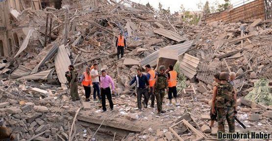 Halep'te meydana gelen patlamalarda 34 ölü 122 yaralı