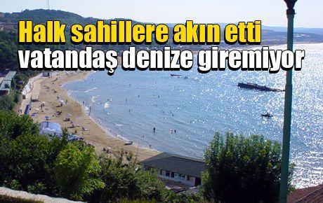 Halk sahillere akın etti vatandaş denize giremiyor