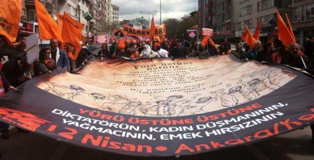 Halkevleri'nin Ankara'daki mitinginde 'HDP'ye oy verin' çağrısı
