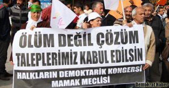 HDK üyeleri destek açlık grevi başlattı