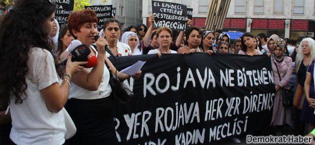HDK'li kadınlardan Rojava'lı kadınlara destek