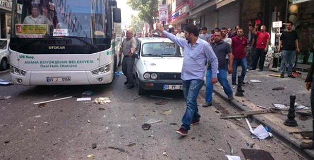 HDP Adana ve Mersin il binalarında eş zamanlı patlama!