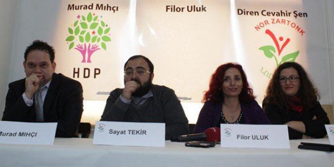 HDP bileşeni Nor Zartonk aday adaylarını tanıttı