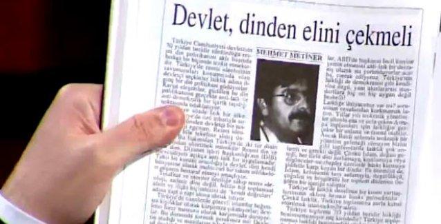 HDP'li Tan açıkladı: AKP'li Metiner ve Akdoğan 1993'te 'Diyanet ilga edilsin' demiş!