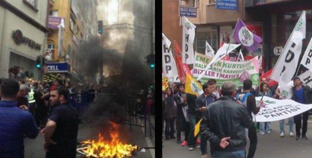 HDP'nin Trabzon'daki 1 Mayıs kutlamasına saldırı