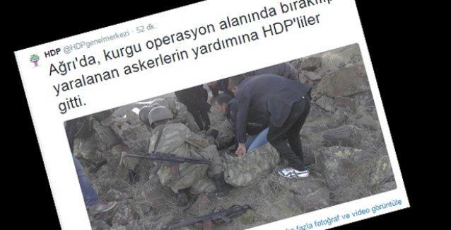 HDP, twitter'dan o fotoğrafları paylaştı