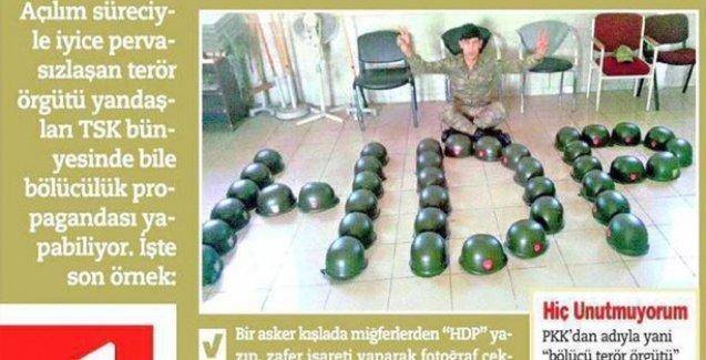 HDP'ye destek veren asker Vahdet gazetesini çıldırttı