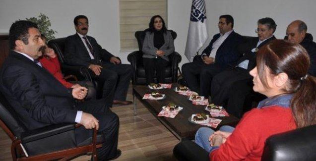 HDP'den KESK ziyareti