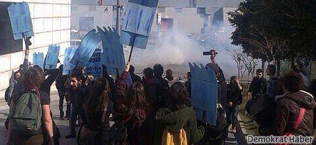 HES fuarı protestosuna gaz
