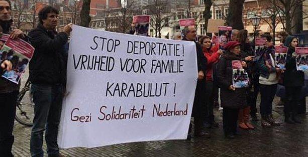 Hollanda Gezi Dayanışması Karabulut Ailesi için eylem yaptı