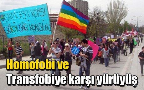 Homofobi ve Transfobiye karşı yürüyüş