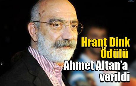 Hrant Dink Ödülü Ahmet Altan'a verildi