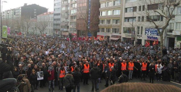 Hrant Dink'in katledilişinin 8. yıl dönümünde binlerce kişi yürüdü