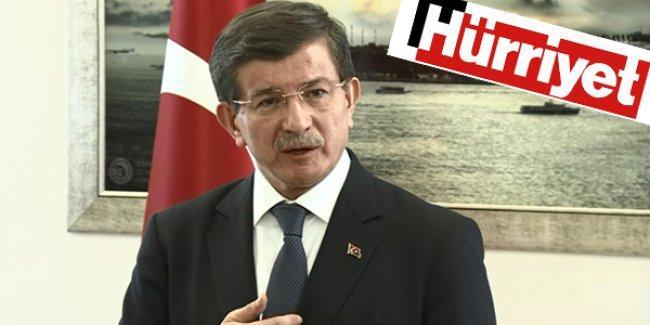 Hürriyet'ten Davutoğlu'na: 'Biz sadece gazeteciliğimizi yapmak istiyoruz'