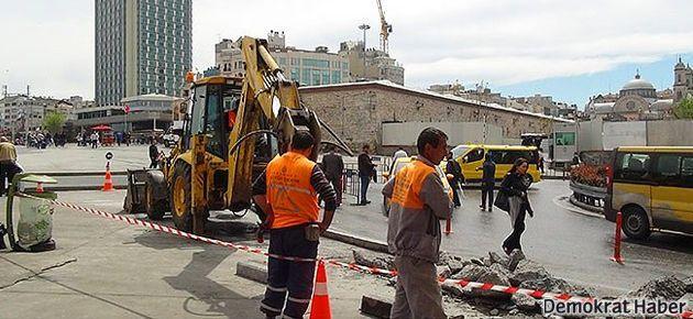 İBB'den 'Taksim'de inşaat' açıklaması
