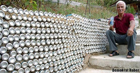 İçtiği biralar evden köye 'duvar' oldu