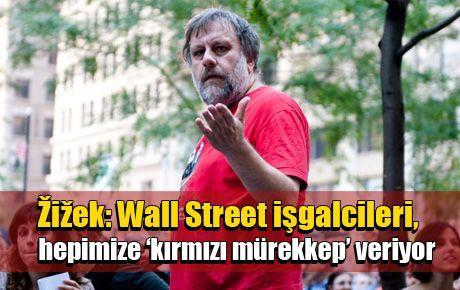 Žižek: Wall Street işgalcileri, hepimize 'kırmızı mürekkep' veriyor
