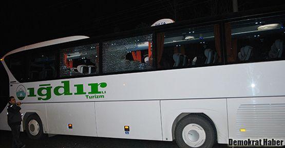 Iğdır otobüsüne Ordu'da taşlı saldırı