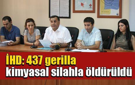 İHD: 437 gerilla kimyasal silahla öldürüldü