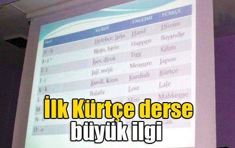 İlk Kürtçe derse büyük ilgi