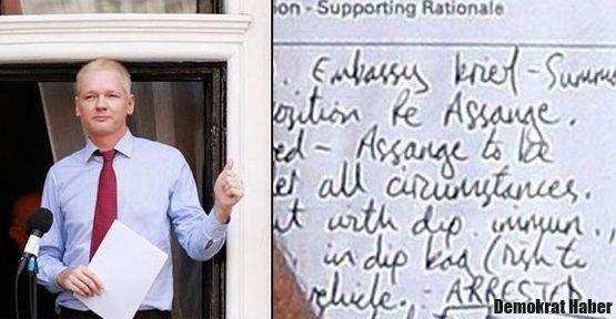 İngiltere'nin gizli Assange planı