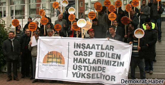 İnşaat işçileri eylemde, sorunları meclis gündemde