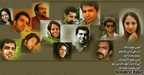 İran'da 14 gazetecinin tutuklanmasına protesto