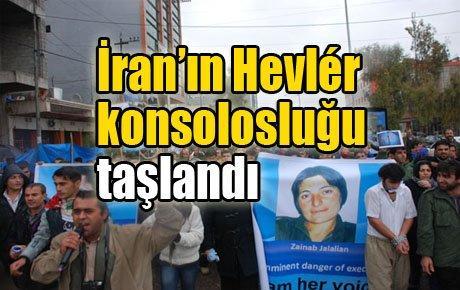 İran'ın Hevlér konsolosluğu taşlandı