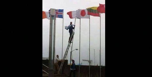 İrlandalı siyasetçi İsrail bayrağını indirdi