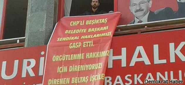 İşçiler CHP binasını işgal etti