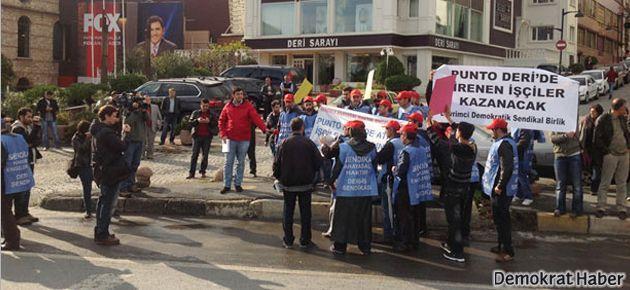 İşçiler Fox TV'yi protesto etti