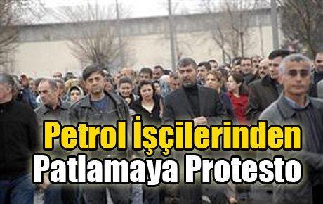 İşçilerden Batman'daki patlamaya protesto