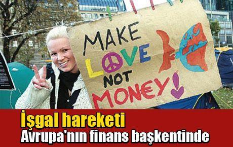 İşgal hareketi Avrupa'nın finans başkentinde
