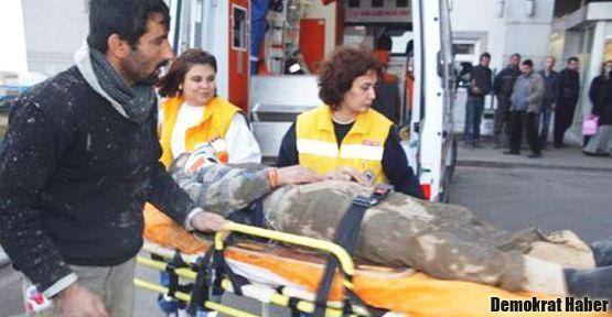 İskele çöktü: 4 işçi yaralandı