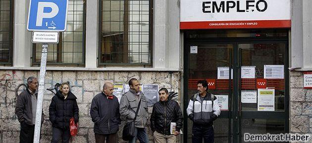 İspanya'da rekor düzeyde işsizlik