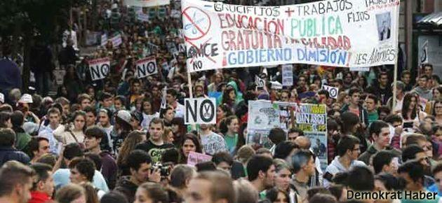 İspanya'da 'tarihi' eğitim grevi