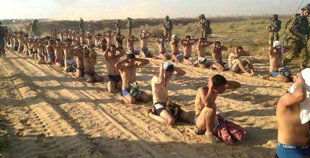 İsrail'den Gazzelilere 'çıplak gözaltı'
