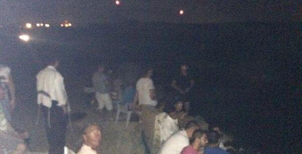 İsrail'in Gazze'ye füze saldırısını film izler gibi izlediler