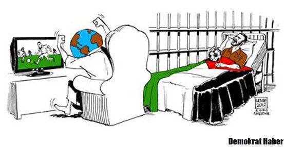 İsrailli Mazor, Filistinliler için açlık grevinde