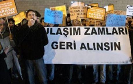İstabulda ulaşım zammı protestosu