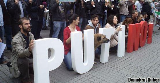 İstanbul'da Kafkasyalılar 'PutiNO!' dedi